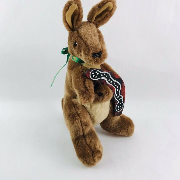 Kangaroo & Joey Boomerang plush australia